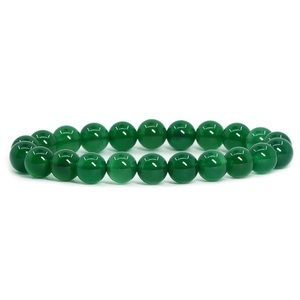 Green Agate Natural gemstone  stretch bracelet